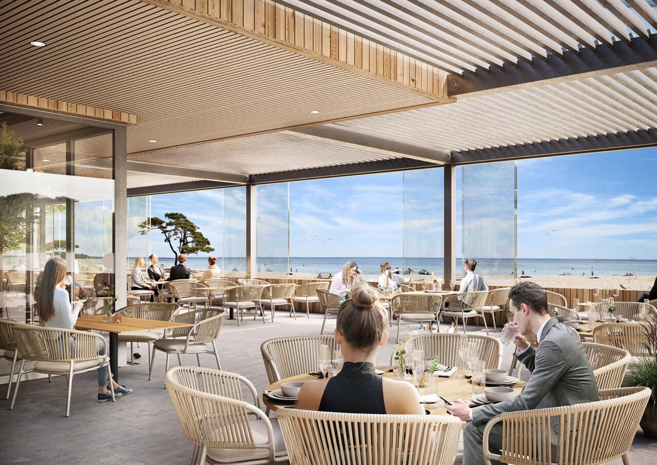Åhus Seaside - Seaside Restaurant uteservering