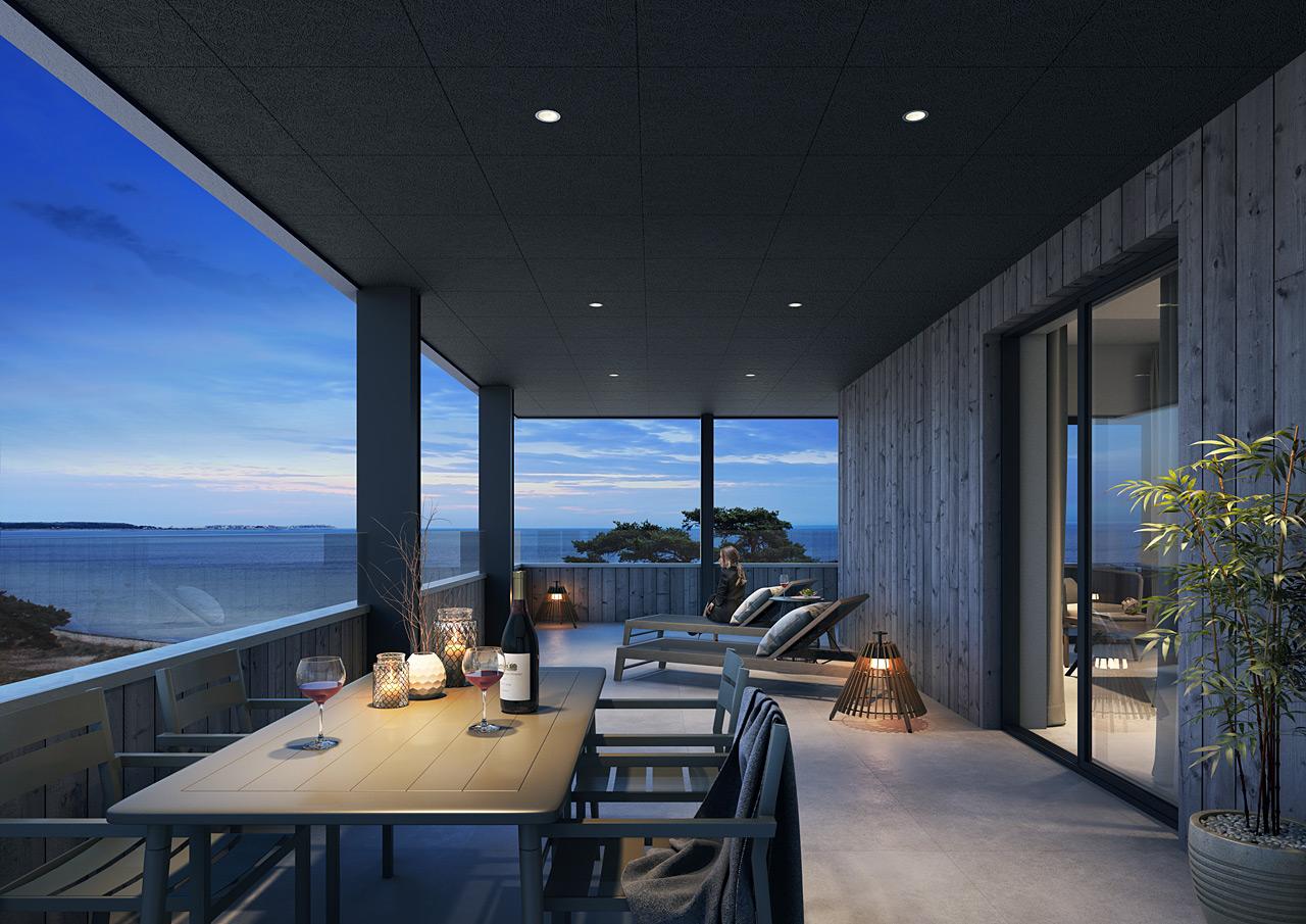 Åhus Seaside - Svit, balkong